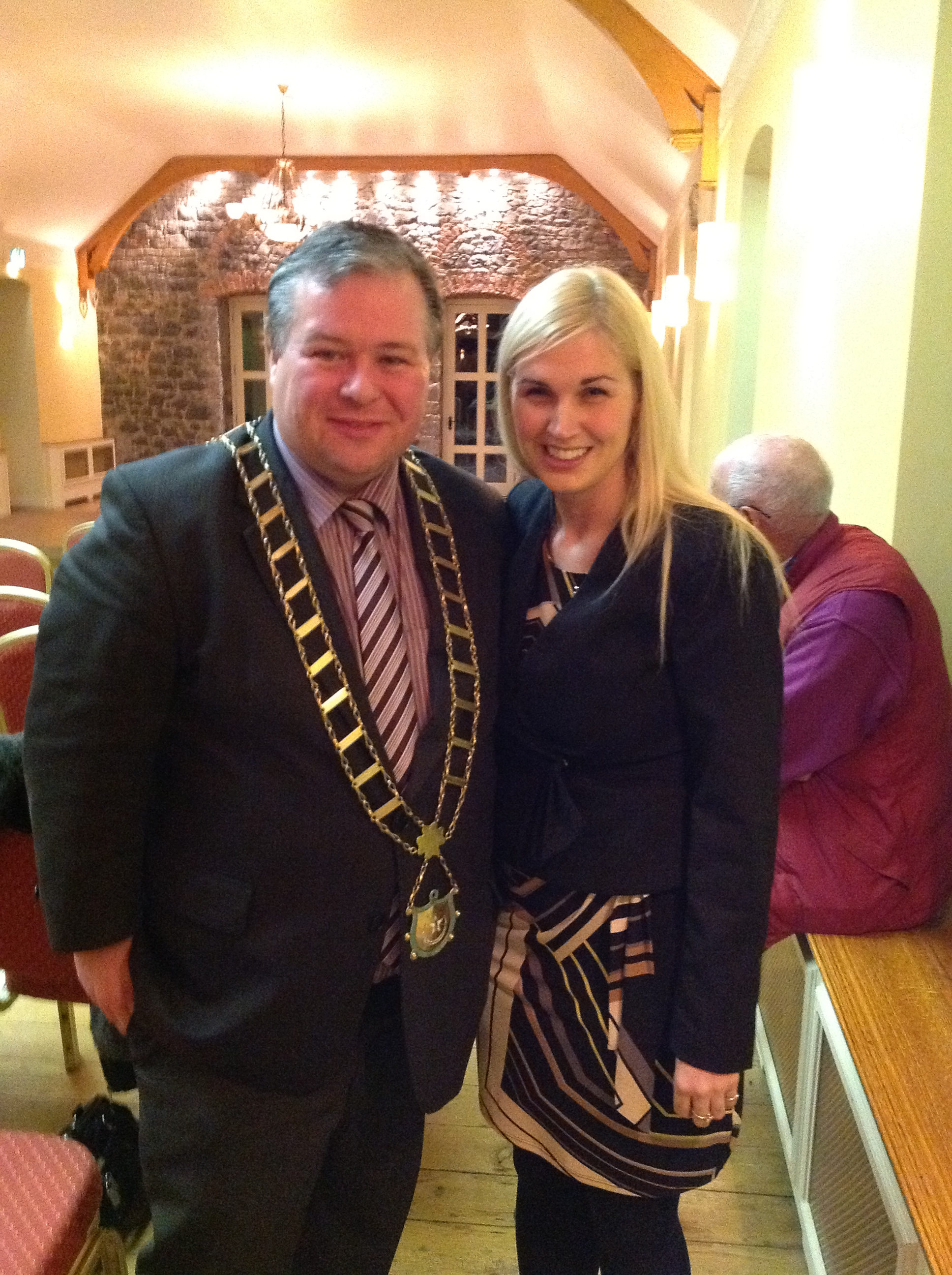 Sinead Kane and Lord Mayor of Drogheda