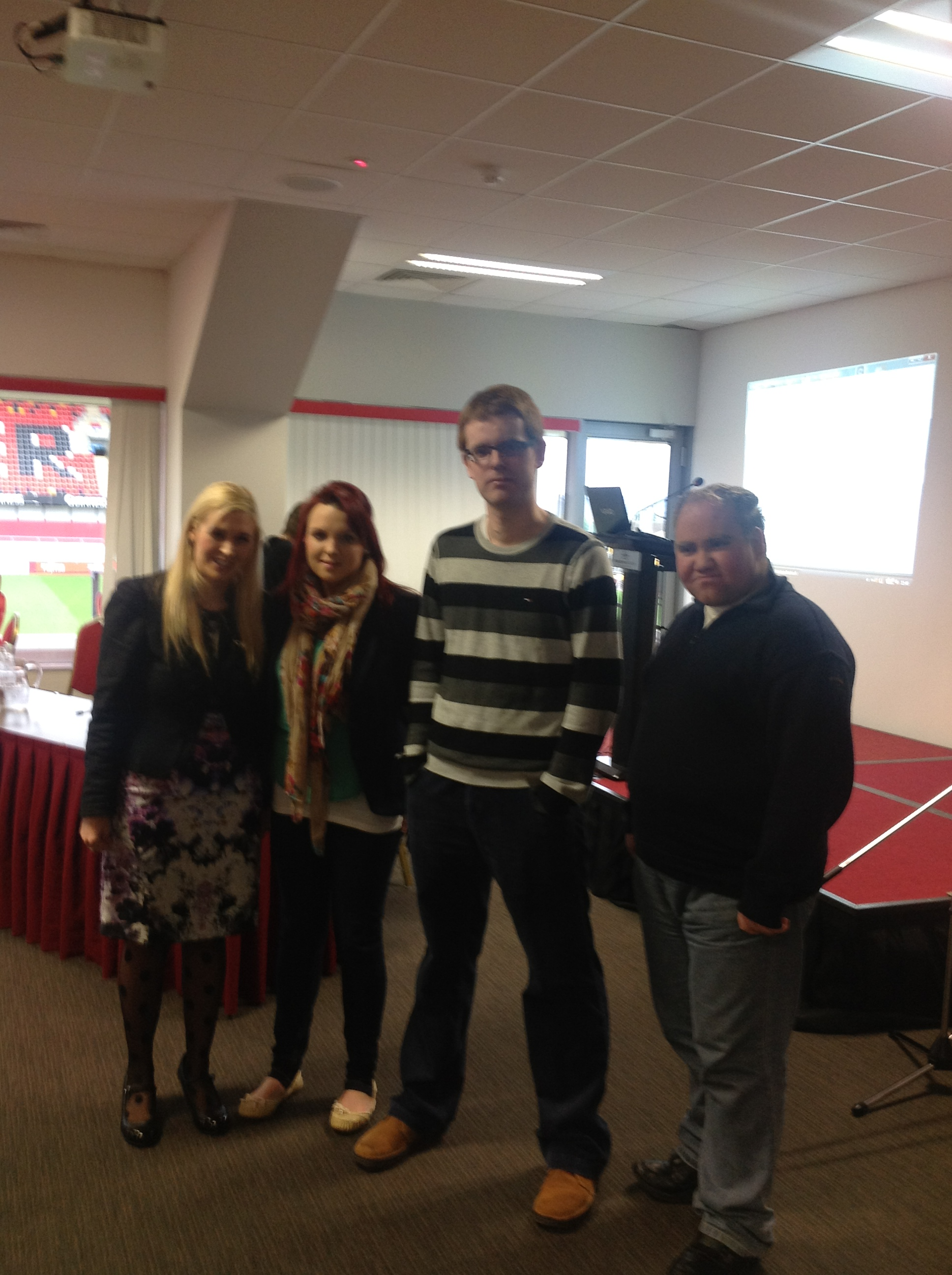 Sinead Kane with Students at the Better Options event Thomond Park, Limerick