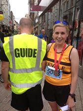 Sinead and guide Kieran